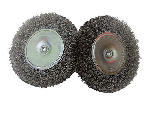 Cepillo circular de alambre Acero inoxidable 100x10 (2 unidades)