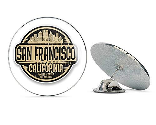 San Francisco USA California Round Metal 0.75' Lapel Pin Hat Shirt Pin Tie Tack Pinback
