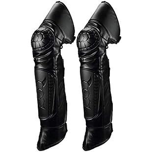 perfk Pair Adult Knee Shin Guard Motocross Motorcycle Off-Road Sport Body Guard Armor Pads:Kisaran