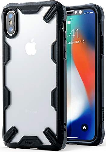 Ringke Cover Apple iPhone X [Fusion-X] Trasparente Ergonomico [Caduta Militare di Difesa Testati] PC sul Paraurti in TPU Assorbimento Shock Technology per Custodia iPhone X/iPhone 10 - Black (Nero)