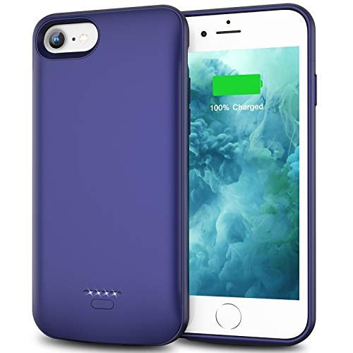Swaller Battery Case for iPhone 6 Plus 6s Plus, Slim 5500mAh Portable Charger Case Extend 150% Battery Life, Protective Backup Charging Case (Blue)