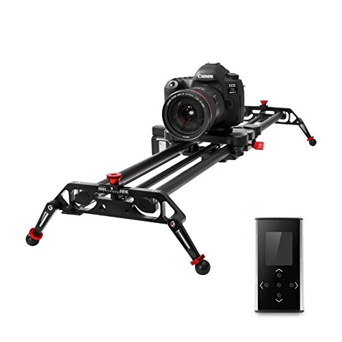 "GVM Camera Slider 31"" DSLR Dolly Track Parallax Sliders May Motorized Time Lapse and Video Follow Focus Shot and 120 Wide-angle Shooting"