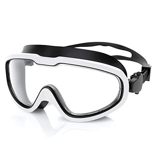 QcoQce Unisex Schwimmbrille,Schwimmbrillen Linse Verstellbar Gurt mit UV-Schutz und Anti Nebel,Taucherbrille f¨¹r Erwachsen und Kinder Einschlie?en Ohrst?psel und Nasenklammern