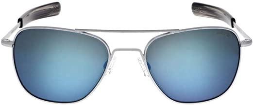 Randolph Aviator Sunglasses Matte Chrome/Bayonet/Skytec-P Cobalt 55mm