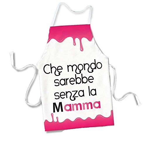 Grembiule Rosa da cucina Idea Regalo Mamma