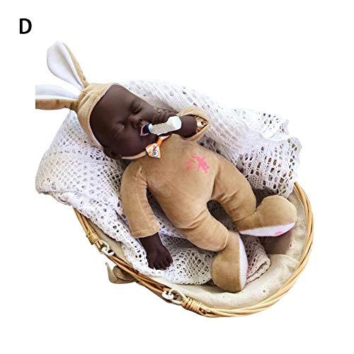 josietomy Muñecas Negras para bebés, 15.35 Pulgadas Bebidas lácteas Muñecas realistas afroamericanas con Orejas Grandes, Calma la muñeca para niños Juguetes para niños
