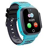 Winnes Smartwatch für Kinder, LBS Smartwatch, SOS, Alarm durch Sprach-Chat, Kamera, Kinderuhr für Jungen und Mädchen von 3-12 Jahren (blau)
