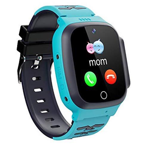 Winnes Reloj Inteligente para Niños Teléfono Smartwatch LBS localizador SOS Alarma por Chat de Voz Cámara Reloj Infantil para Niño Niña de 3-12 Años (Azul)