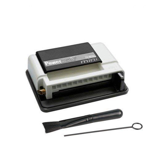M&M MM Powermatic Mini Black & White - Handstopfmaschine Zigarettenstopf-Maschine, Kunststoff, schwarz, 10 x 10 x 5 cm