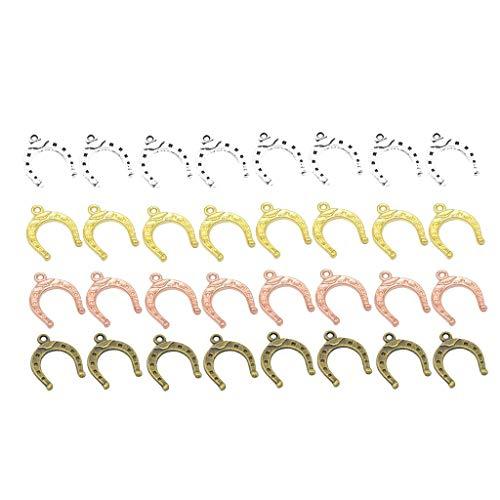 40 Pezzi Mini Lega a Forma di Ferro di Cavallo Ciondoli Fai da te Gioielli Findings Accessori Portatile e Utile