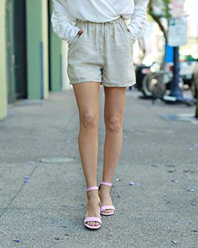 The Drop Women's Natural Elastic Waist Linen Short by @paolaalberdi