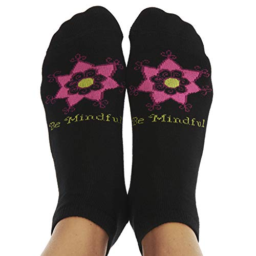 Toe Talk BE Mindful Women's Non Slip Grip Socks
