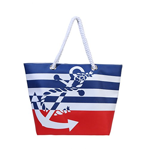 Waterproof Beach Bag Extra Large Summer Tote/Top Magnet Clasp Bag With Soft...