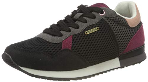 Pepe Jeans London Damen Archie TECH Sneaker, 999BLACK, 36 EU