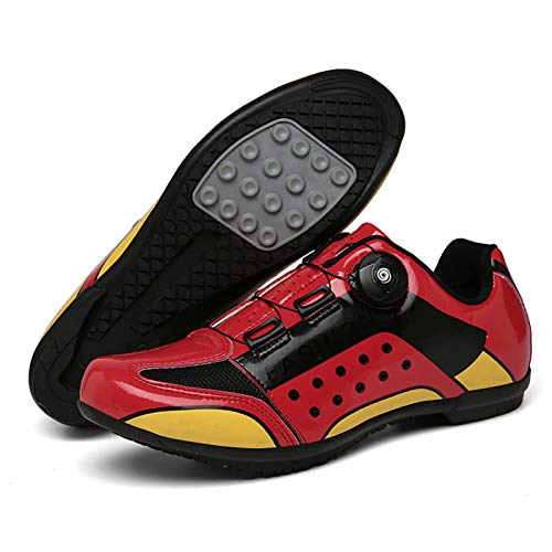 MJ-Brand Cycling Shoes - Mens Womens Spin Shoestring with Compatible Cleat Peloton Shoe with SPD and Delta for Men Lock Pedal Bike ShoesAssisted Sports Shoes