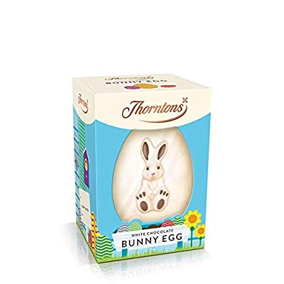 thorntons white chocolate bunny egg, 151 g Thorntons White Chocolate Bunny Egg, 151g 418xkE2vbOL