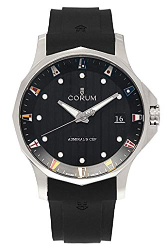 Corum ADC 47 Admiral's Cup Automatic Titanium Mens Watch Calendar Rubber...