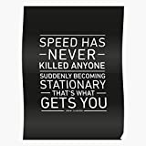 US209PT Jeremy Clarkson Hammond Quotes Speed James Richard Gear Quote Top May Racing, for Home Decor Wall Art Print Poster