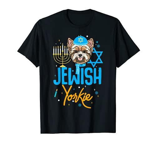Diseño de Hanukkah Yorkie para perro judío Yorkshire Terrier Camiseta