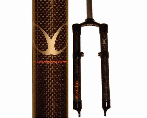 eXotic Starre Carbon-Mountainbike-Gabel, Scheibenbremse und V-Bremse, 42,5 cm, für 66 cm (26 Zoll) Räder
