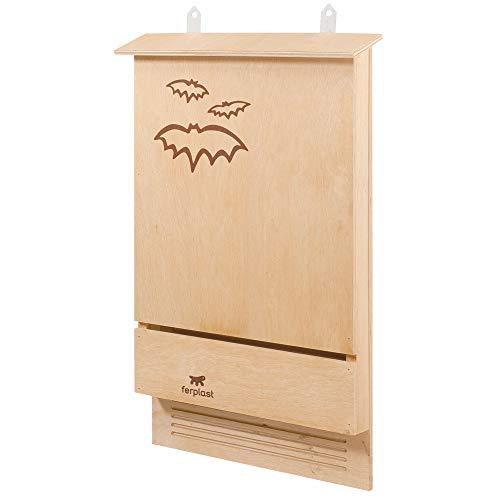 Ferplast Casetta Pipistrelli Bat House Nido per Pipistrelli Bat Box in Legno Ecosostenibile, Protezione Anti Zanzare e Insetti Ecologica Naturale, 39