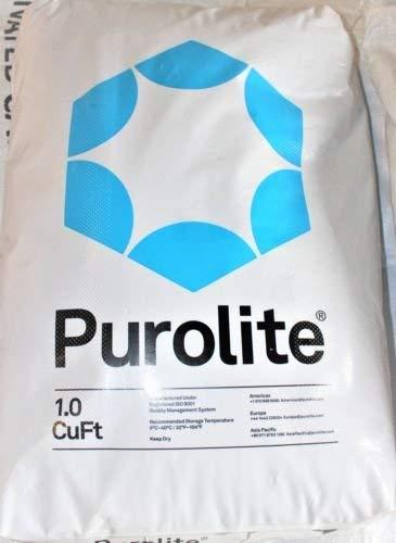 Purolite C100E Resin C-100E Cationic Replacement for Water Softener 1 CuFt Bag Media