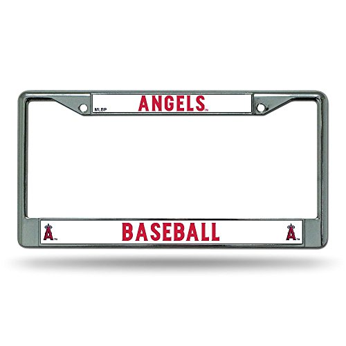 Rico Industries FC4010 MLB Los Angeles Angels Chrome License Plate Frame