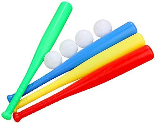 Moshanghua Bates de béisbol, 4 Series de Juegos de béisbol de Juguetes, Mangos Antideslizantes interactivos de plástico, Juguetes Bate de béisbol