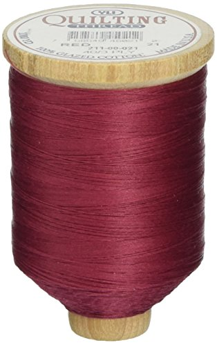 YLI 21100-021 3-Ply T-40 Cotton Hand Quilting Thread, 1000 yd, Red