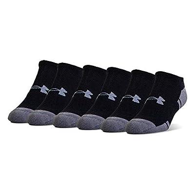 Under Armour Adult Resistor 3.0 No Show Socks, Black/Graphite (6-Pairs), Shoe Size: Mens 8-12, Womens 9-12