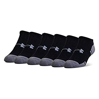 Under Armour Adult Resistor 3.0 No Show Socks , Black/Graphite (6-Pairs) , Shoe Size: Mens 4-8, Womens 6-9 (B016V4LFMA) | Amazon price tracker / tracking, Amazon price history charts, Amazon price watches, Amazon price drop alerts
