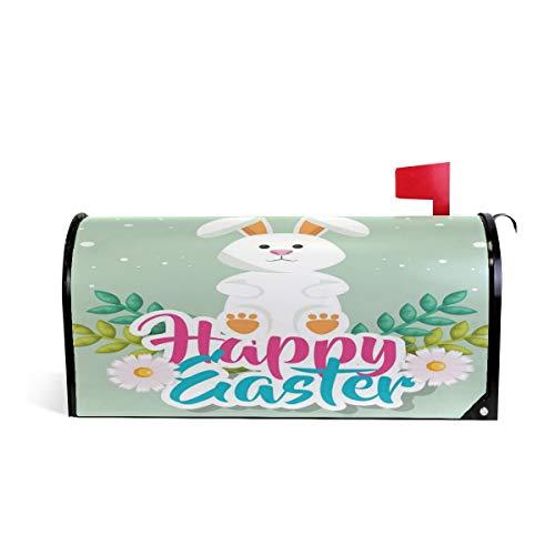 Wamika Happy Easter Bunny Boîte aux Lettres aimantée Motif Floral Daidy 64.7x52.8cm Multicolore