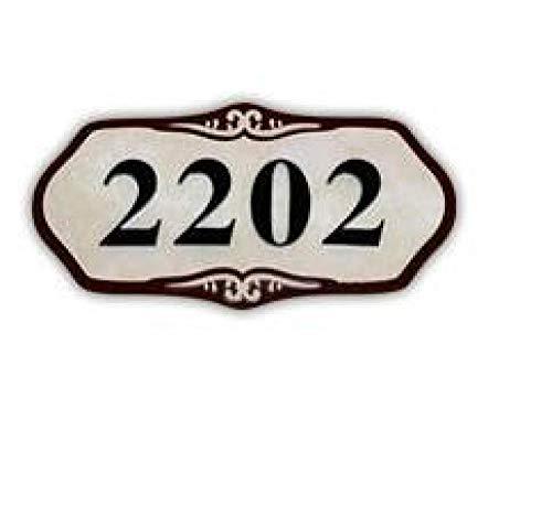 Números Y Placas De Dirección Casa Número De Casa De Acrílico Moderno Número De Casa Personalizado Personalizado Dígitos Casa Del Hotel Imitación Jade Puerta Dirección Placa Placa-C_Los 30X12Cm