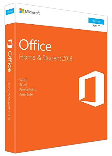 Office 2016 Home and Student - Box - 1 PC - Word Excel PowerPoint OneNote - MS Office 2016 für Windows 7 / 8 / 8.1 / 10