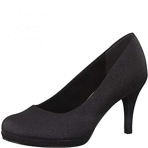 Tamaris Mujer Zapatos de tacón, señora Zapatos de tacón Clásicas,Touch It,Zapatos de Noche,Tacones Altos,Black Glam,37 EU / 4 UK