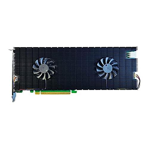HighPoint SSD7540 NVMe Raid Controller, 8 Puertos M.2 NVMe PCIe 4.0 x16, Low-Noise Hyper-Cooling