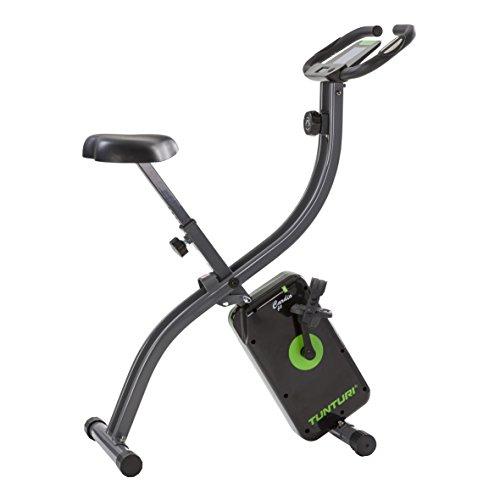 Tunturi Cardio Fit B20 X bike heimtrainer fahrrad klappbar / Fitnessfahrrad / hometrainer fahrrad trainer mit LCD-Bildschirmanzeige und Tablethalterung - Schwarz