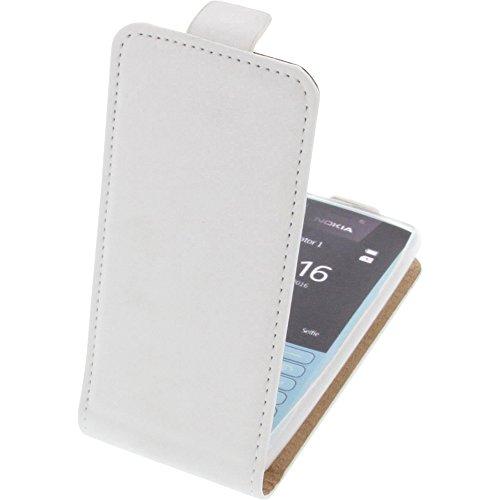 Tasche für Nokia 216 Smartphone Flipstyle Schutz Hülle weiß
