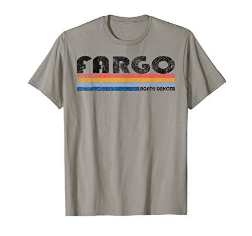 Vintage 1980s Style Fargo North Dakota T-Shirt