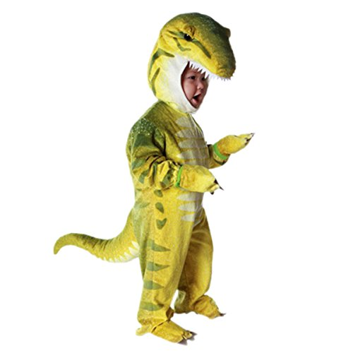 NoveltyBoy Toddler T-Rex Dinosaur Costume Baby's Triceratops Cosplay Jumpsuit, Yellow, 4-6T