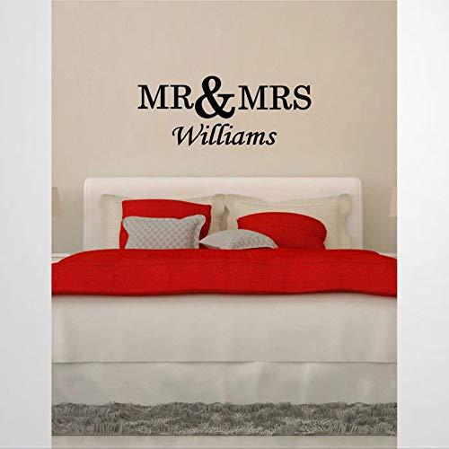 Pegatinas de pared y murales de vinilo con diseño de Mr Mrs Wedding Romantic X | Adhesivo decorativo para pared, para decoración del hogar, para dormitorio, sala de estar, guardería en interiores.