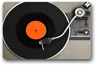 "Buena calidad Custom Vinyl Record Decorativo Felpudo Decorativo Alfombra Interior/Exterior Felpudo 23.6 ""x 15.7 ""Tela no t..."