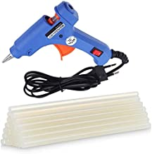 CETC PVC 40 W Hot Melt Glue Gun with 10 Sticks Triple Power Rapid Heating and Quick Melt (Blue)