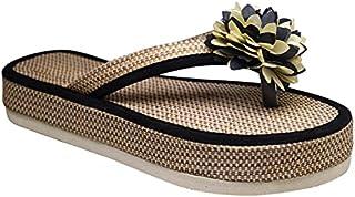 HD Women Soft and Comfortable Jute Casual Heel Flip Flop Slipper