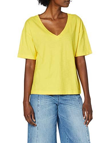 United Colors of Benetton (Z6ERJ T-Shirt Camiseta, Dandelion 3n7, L para Mujer