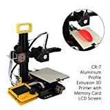 3D Drucker, CR-7 Aluminiumprofilextrusions-3D-Drucker mit Speicherkarten-LCD-Bildschirm Exquisit gestaltet Langlebig Wunderschön
