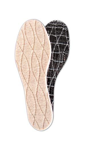 Einlegesohlen Alu-Star von Tacco, wärmeisolierende Einlagen für Winter-Schuhe & -Stiefel aus Schurwolle, Für Erwachsene, Unisex, (41 EUR)