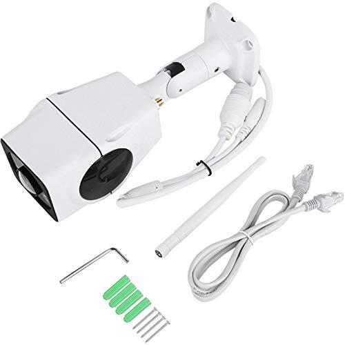 Cámara de ojo de pez, cámara de audio bidireccional IP de 3 MP y dos vías, impermeable 3D Fisheye 360 al aire libre para empresas, lugares al aire libre, hogares
