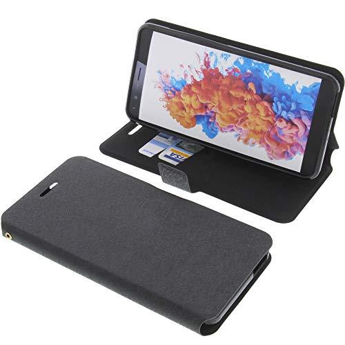 foto-kontor Tasche für TP-Link Neffos C7 Lite Book Style schwarz Schutz Hülle Buch