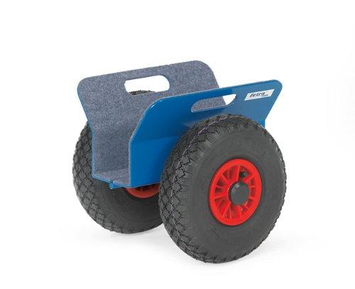 Plattenroller mit Luft-Bereifung und Klemmbacken Tragkraft 250 kg